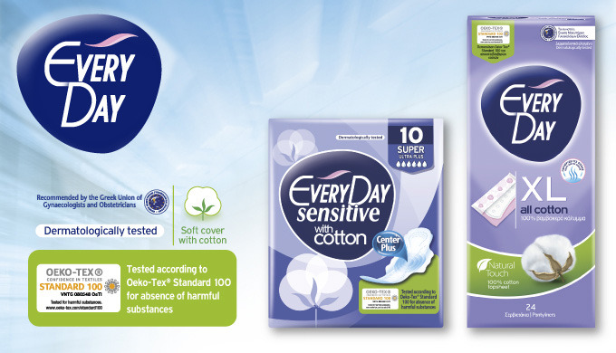 EveryDay, a complete range of feminine hygiene products