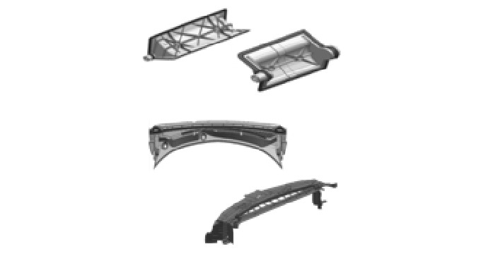 2K molding process: - Primary shot: Hard substrate (PP) - Secondary shot: Overmold (TPE/TPV) => 2 sh...