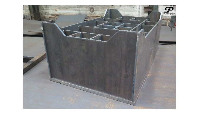 OEM large welded parts for spotting press machine