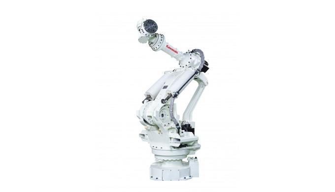 Die Kawasaki-Roboter der M-Serie zeichnen sich durch ihre enorme Leistung mit einem Drehmoment aus, ...