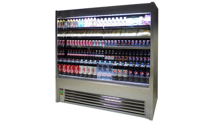 Premium display fridge, with the large open display of an ECO-Fridge multideck display chiller helps...