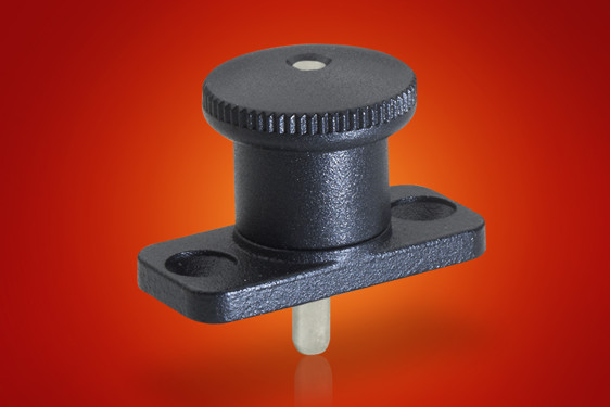 Assembly of indexing plungers onto thin sheet material is a problem addressed with Elesa's GN822.8 f...