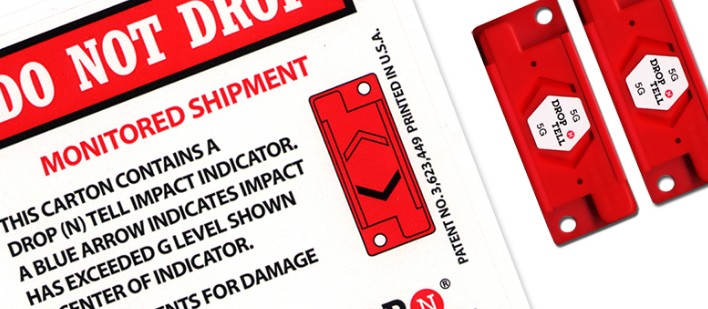 Drop N Tell labels are ideal for use as export packaging. Self-adhesive impact labels may be suitabl...