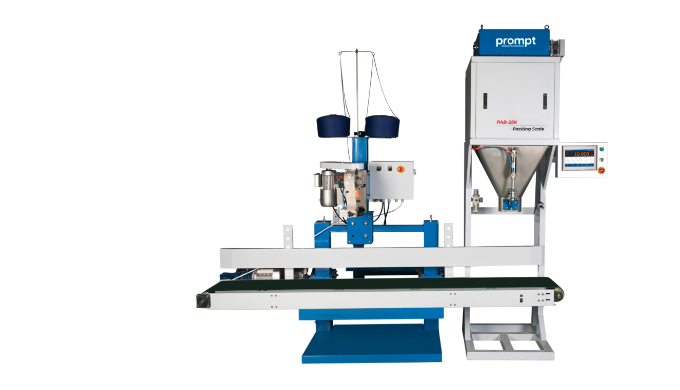 Prompt automatic bag filling system is built with self-optimizing controls for providing you with ac...