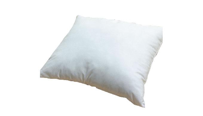 Características: Almofada de capa simples; Capa exterior em tecido de algodão e poliéster; Núcleo de...