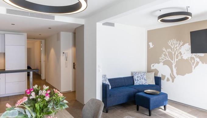 Moderne Apartmenthäuser in Basel mit möblierten Wohnungen bis 3.5 Zimmer. Serviced Apartment anzentr...