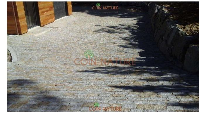 Coin Nature est une entreprise spécialisée en pavages en pierre naturelle et aménagement paysagers, ...