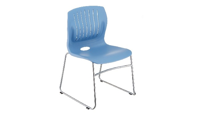 TEC-05C is TEC series sled-base stacking guest chair, with stylish shape, ergonomic 3-D backrest des...