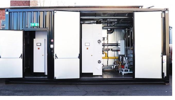 Mobile Container-Dampfanlage - Dampfkessel