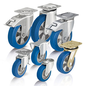 Heavy duty wheels and castors with cast polyurethane tread Blickle Besthane? Soft