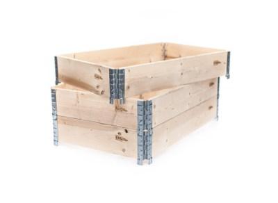 Vores fabriksnye pallerammer er ét-brætsrammer af højeste kvalitet. Med de stærke 1,25 mm hjørnebesl...