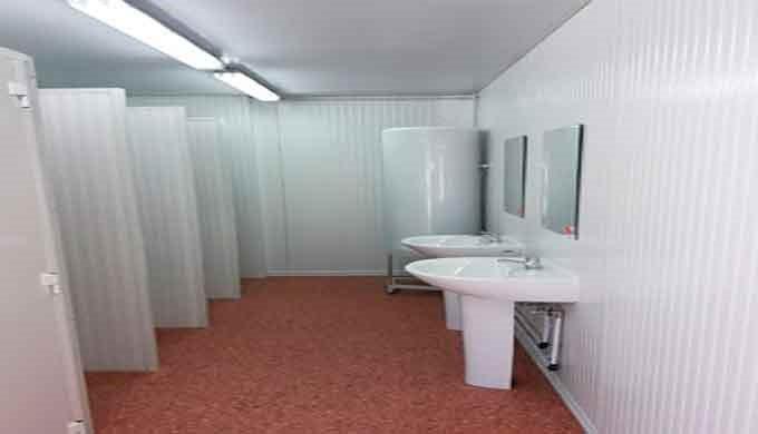 Construcciones Modulares sanitarios portátiles, Vestuarios y duchas