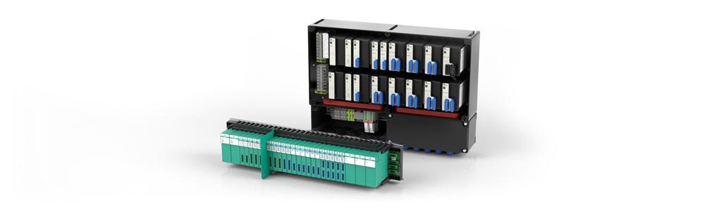 Modulare Remote-I/O-Systeme übertragen Prozessdaten aus dem nicht explosionsgefährdeten oder explosi...