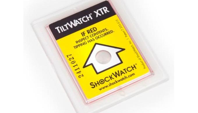 Tiltwatch XTR Indicadores y Etiquetas | Conjuntos de cajas (incluyendo etiquetas de envío)