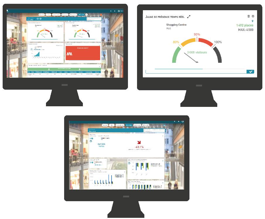 MyQuantaflow software - Visualizar e analisar o fluxo de visitantes