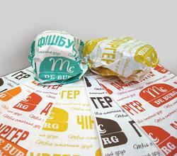 Бумажная салфетка для гамбургера