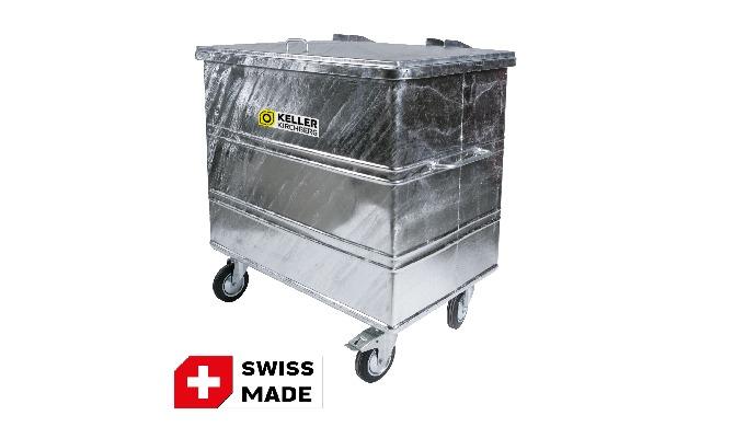 KELLER Abfallcontainer 800 l verzinkt