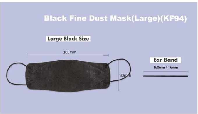 Luxyry Protect Mask-Nonwoven Face Mask Black Mask