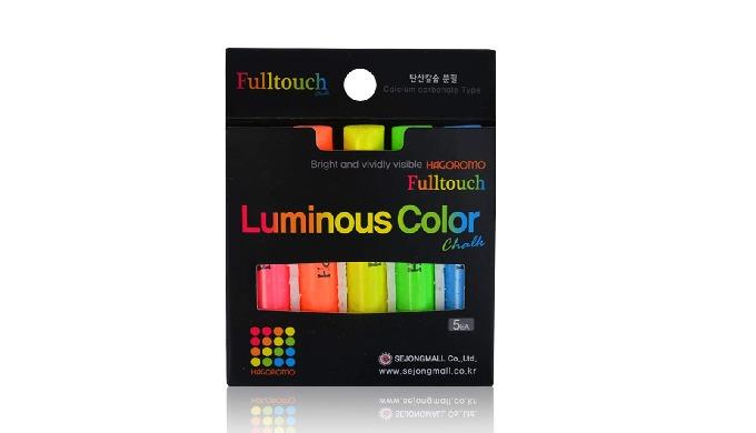 Fulltouch  Luminous Color Chalk [5 pcs/5  colors]/1 BOX