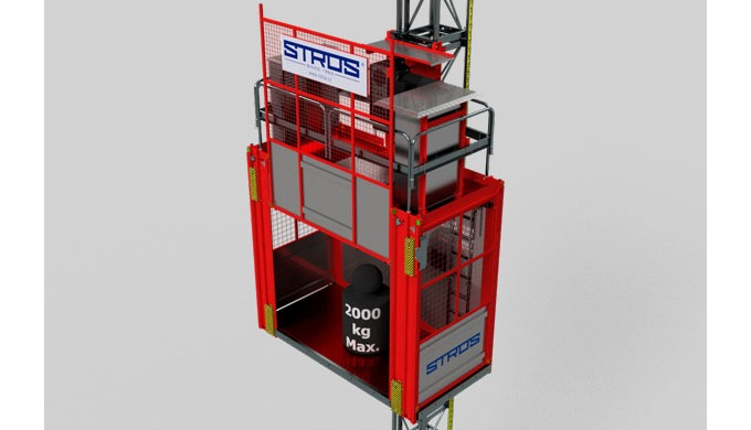 NOV 1324 UP is a mid-size model of the STROS family of cargo and passenger mast lifts. It is fast an...