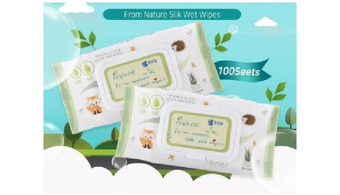 AGA-AE From Nature Silk Wet Wipes