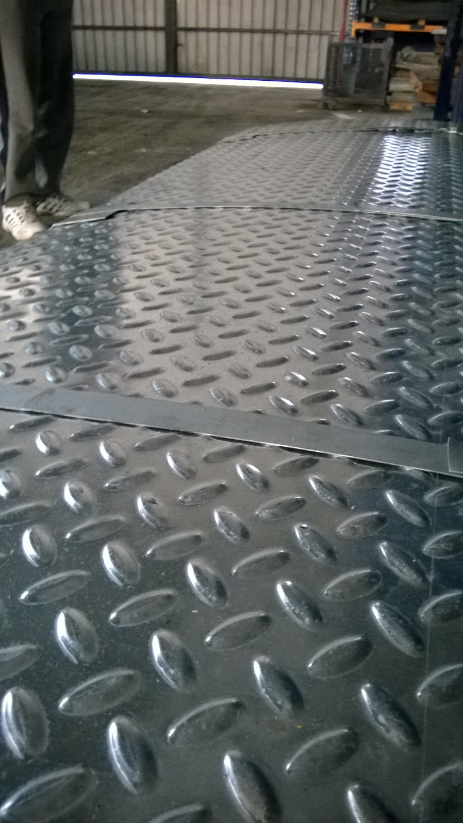 Galvanized chequered sheets or coils