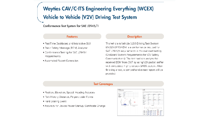 WCEX  V2X Driving test system