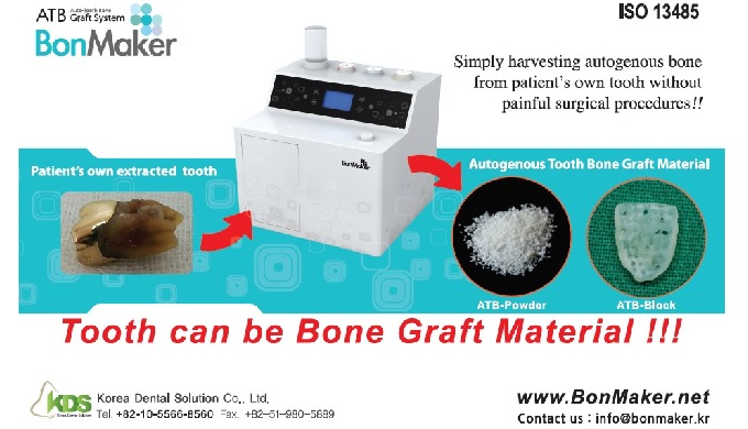 BonMaker (Auto-Tooth Bone graft material processor)