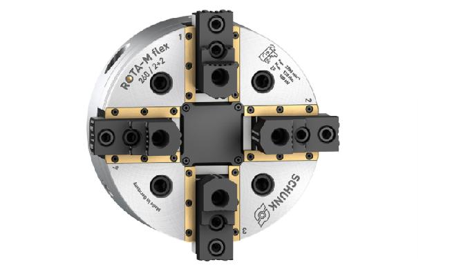 Los chucks de 4 mordazas con compensación central se utilizan para sujetar una amplia gama de geomet...