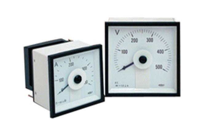 R68 Panel Meter Description Rectangular fronted, round R68 range : panel meters barrelled, moving ir...