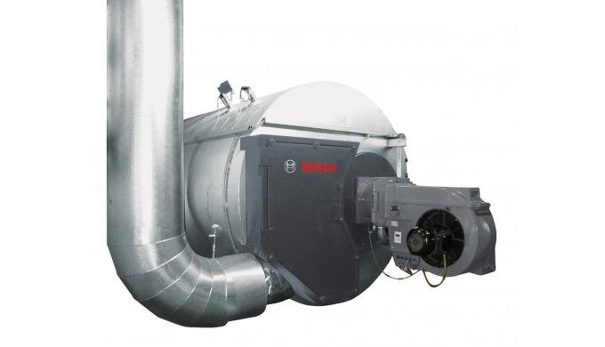 - Konventionell befeuerter Wärmeerzeuger mit zusätzlich integriertem Rauchrohrzug zur Abwärmenutzung...