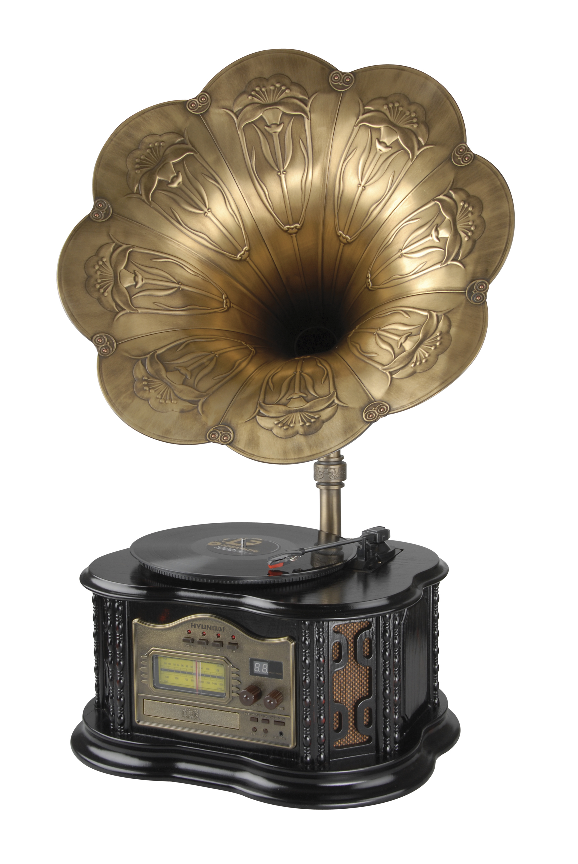 Dopřejte si stylovou, kontrastní kombinaci retro designu a moderních funkcí v jednom. Retro gramofon...