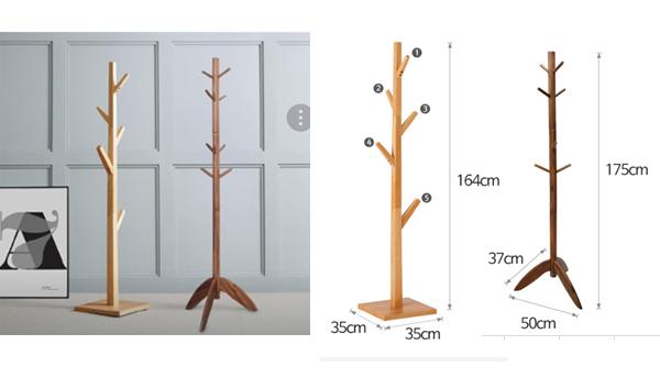 Coat-hangers, wooden