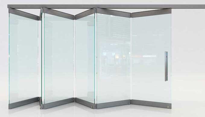 Folding glass doors F1