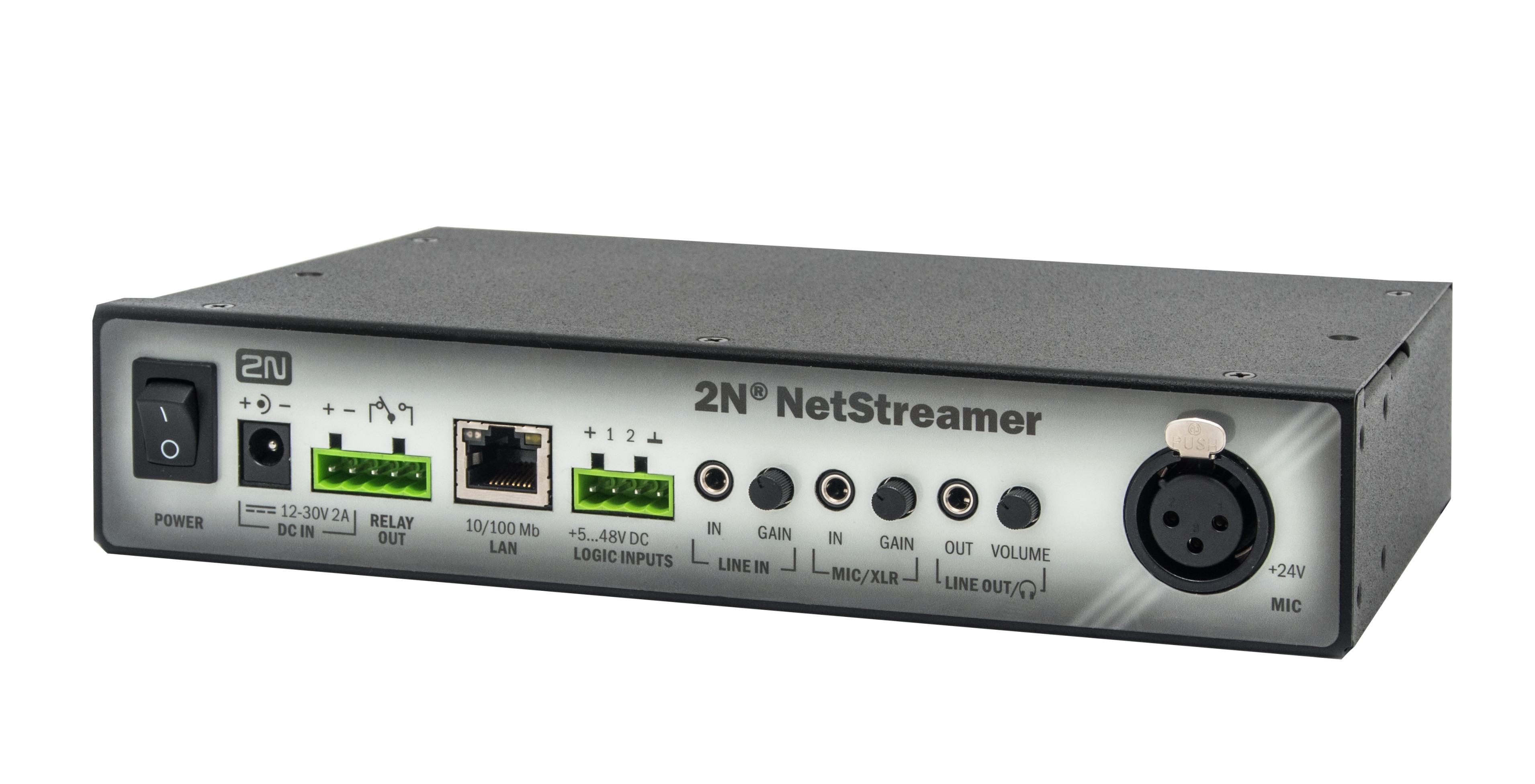 Chytrý konvertor audio signálu2N® NetStreamer je chytré IP zařízení, které dokáže převést tradiční (...