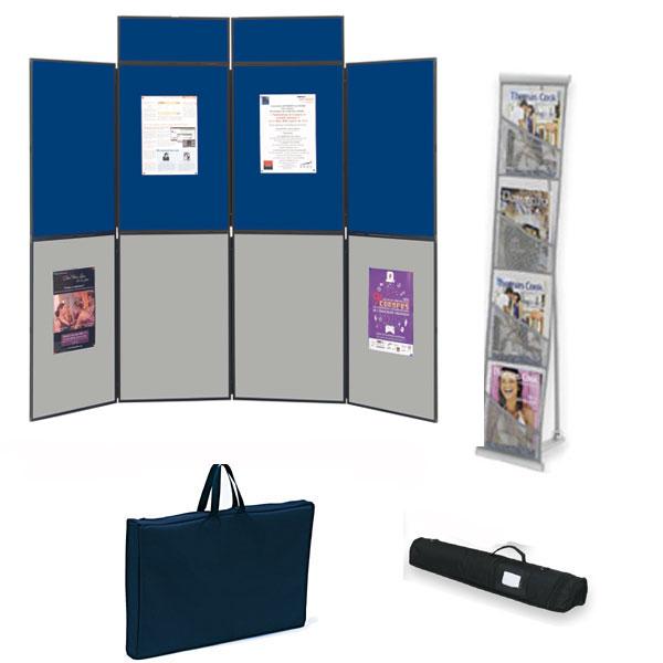 Utilisation pour votre communication et vos expositions. Affichage double-faceComposé du stand de 8 ...