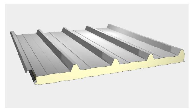 -C'est un panneau sandwich isolant constitué d'un parement extérieur en acier galvanisé prélaqué for...