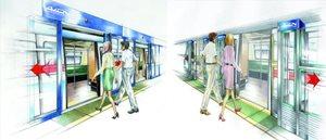 Hohe und halb hohe Bahnsteigtüren (PSD) gewährleisten eine sichere Trennung des Fahrgastbereichs vom...