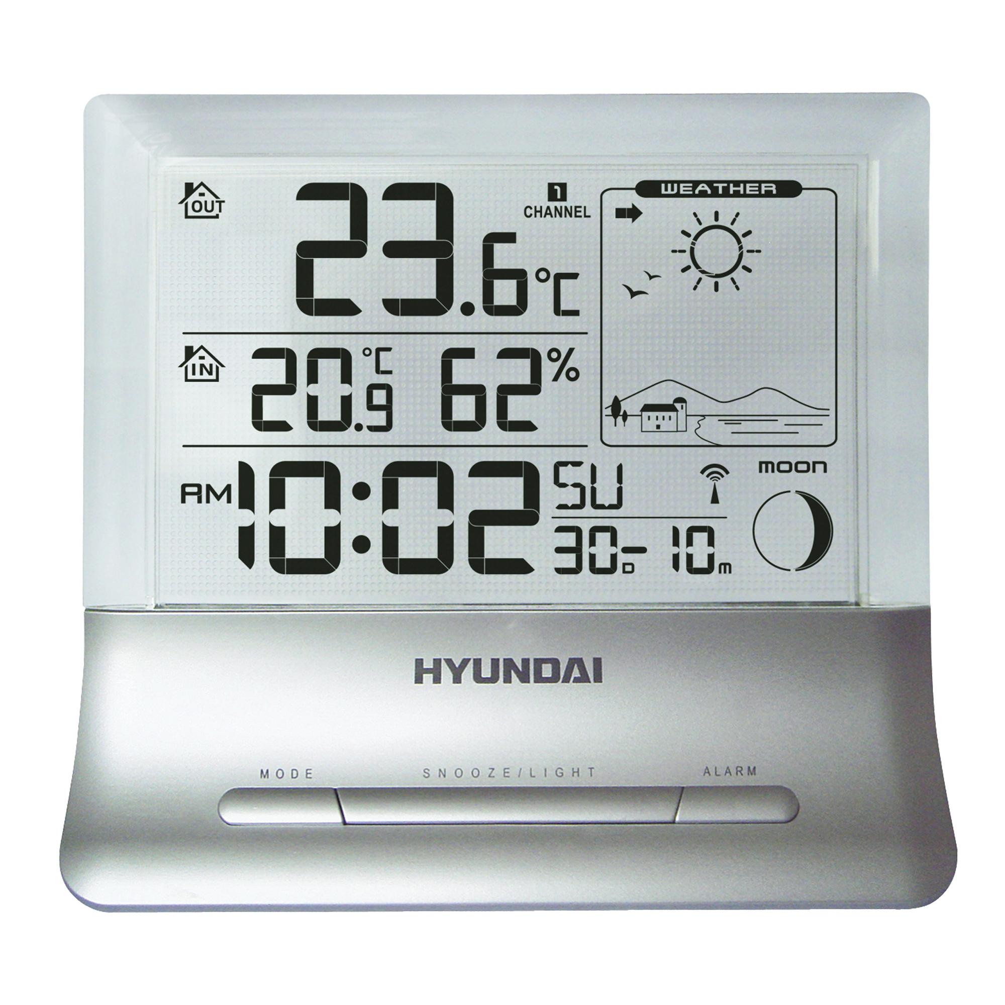 Meteostanice Hyundai WS 2266 je jedinečná díky svému průhledném displeji. Ale oceníte ji také pro je...