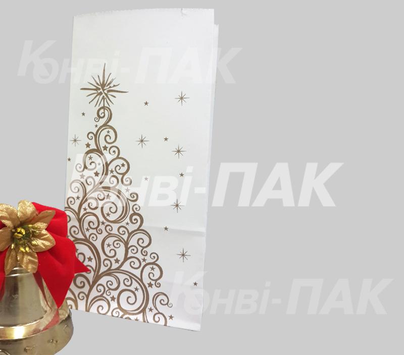 Бумажный пакет для новогодних подарков