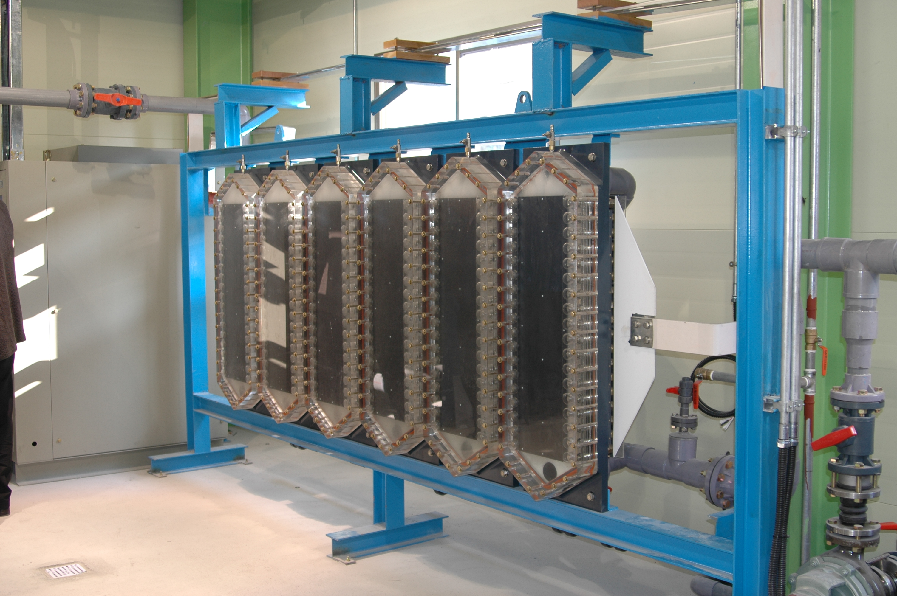 The Electro-chlorination System is a facility that obtains hypochlorite (NaOCI) by electrolyzing sea...