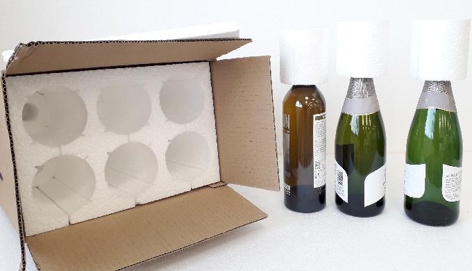 EPS para botellas OPCIONES SOSTENIBLES Y RESPETUOSAS CON EL MEDIO AMBIENTE EN EL EMBALAJE ESPECIAL PARA BOTELLAS