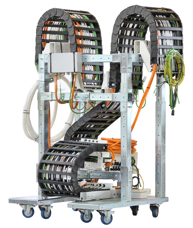 Energiekettensysteme, Steckverbinder und spezielle hochflexible Leitungen für Energieketten nach div...