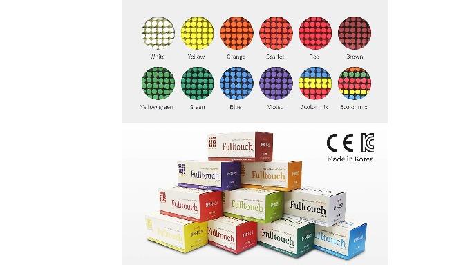 HAGOROMO FULLTOUCH COLOR CHALK [72 PCS/COLOR NAME]/1 BOX