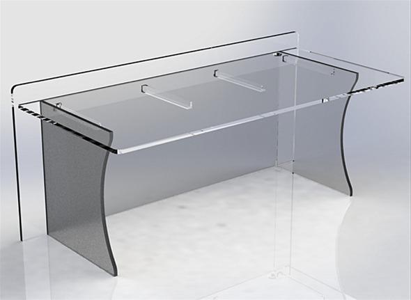 Skrivebord i Plexiglass