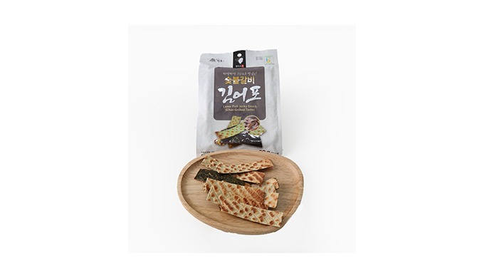 Laver Fish Jerky Snack -Char-Grilled Taste   Mrs. Kwon Seaweeds Fishery Snack