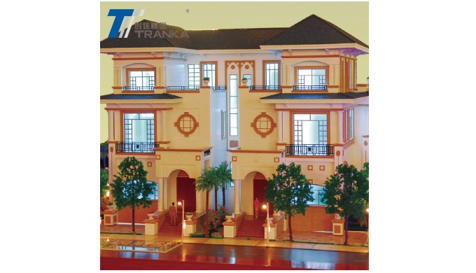 Beautiful diorama miniature model making , architectural scale model building