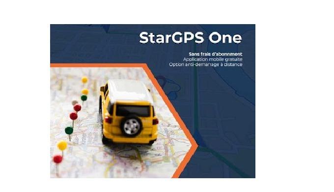 Formule de tracking StarGPS One, sans frais d'abonnement + application gratuite *Sans frais d'abonne...