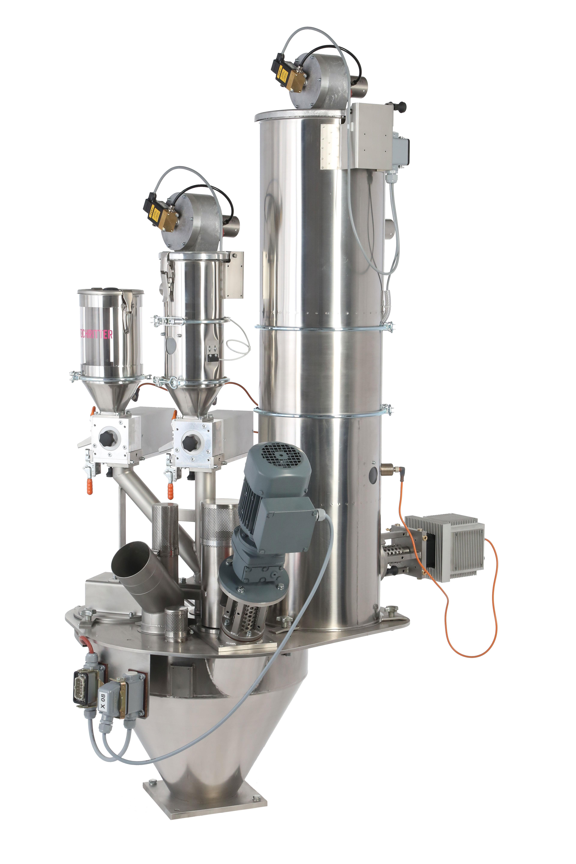 • Bis 80% Mahlgut *1 • Max. 1000kg/h • Bis 4 Komponenten • Dosierung direkt auf der Spritzmaschine •...