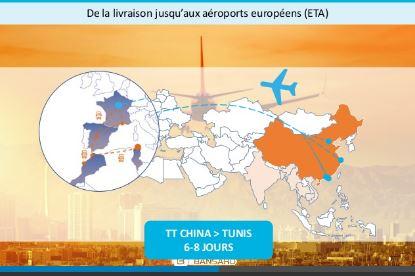 Solution transport combiné: AIR-TRUCK au départ de l'Asie sur le Maghreb via ROISSY-CDG